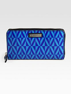 Milly - Geometric Print Zip-Around Wallet