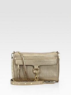 Rebecca Minkoff - Mac Perforated Metallic Convertible Clutch