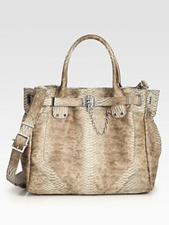 Rachel Zoe - Zoe Deux Snake Embossed Leather Tote