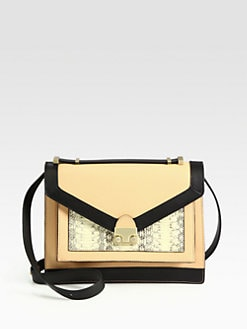 Loeffler Randall - Rider Mixed-Media Top Handle Bag