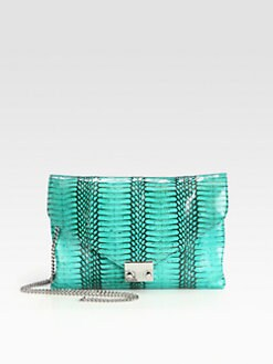 Loeffler Randall - Snakeskin Convertible Clutch