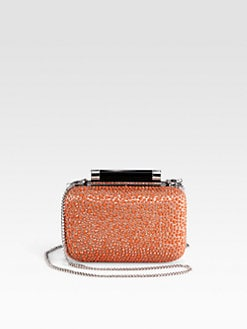 Diane von Furstenberg - Tonda Crystal, Satin & Leather Small Clutch