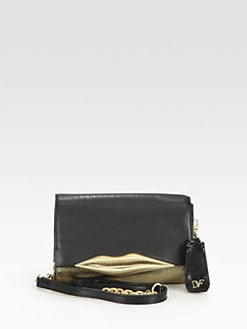 Diane von Furstenberg - Lips Mini Mixed-Media Shoulder Bag