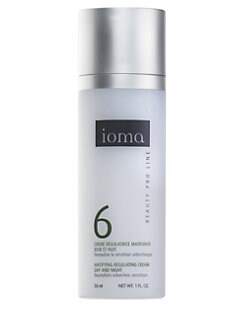 ioma - Matifying Regulating Cream/Night - For Oily Skin/1 oz.