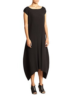 Issey Miyake - Solid Dim Pleats Long Dress