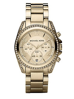 Michael Kors - Stainless Steel Chronograph Bracelet Watch/Gold