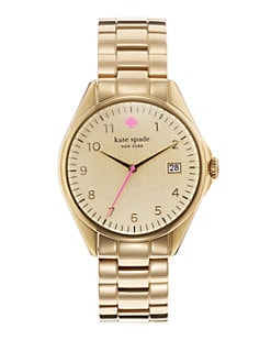 Kate Spade New York - Seaport Goldtone Date-Function Watch
