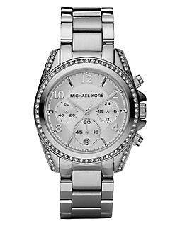 Michael Kors - Stainless Steel Chronograph Bracelet Watch/Silver