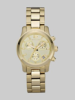 Michael Kors - Goldtone Chronograph Bracelet Watch/Mini