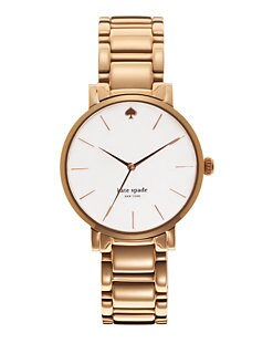 Kate Spade New York - Gramercy Rose Goldtone Stainless Steel Watch
