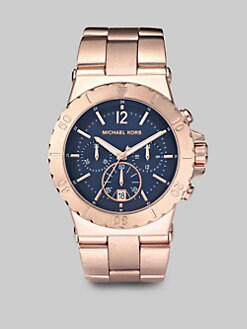 Michael Kors - Rose Gold Stainless Steel Chronograph Watch