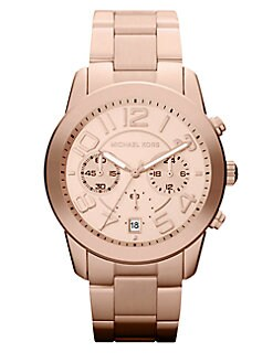 Michael Kors - Rose Goldtone Stainless Steel Chronograph