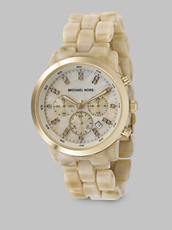 Michael Kors - Acrylic Chronograph Watch/Horn