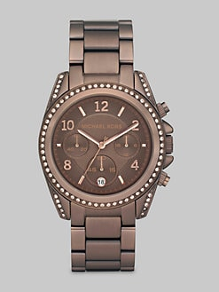 Michael Kors - Chocolate Ion-Plated Stainless Steel & Crystal Chronograph Watch