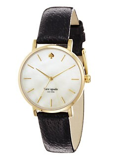 Kate Spade New York - Metro Round Goldtone Watch