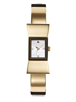 Kate Spade New York - Carlyle Goldtone Bow Bangle Watch