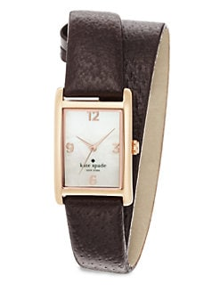Kate Spade New York - Cooper Rose Goldtone Wrapped Watch