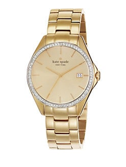 Kate Spade New York - Crystal Bezel Date-Function Watch