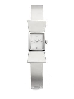 Kate Spade New York - Carlyle Stainless Steel Bow Bangle Bracelet Watch