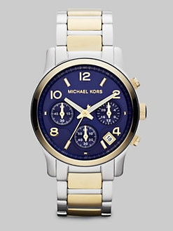 Michael Kors - Two-Tone Stainless Steel Chronograph Watch