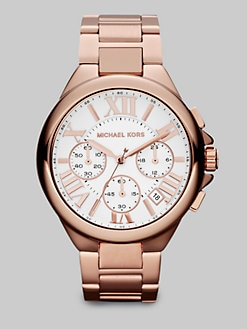 Michael Kors - Rose Goldtone Stainless Steel Chronograph Watch