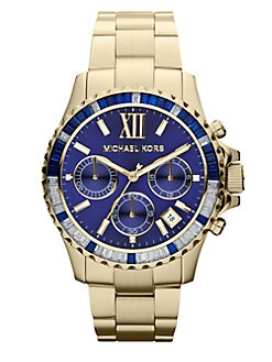 Michael Kors - Crystal & Goldtone Stainless Steel Chronograph Watch