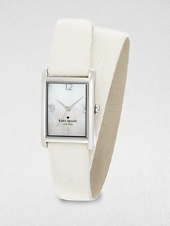 Kate Spade New York - Cooper Stainless Steel Wrap Leather Strap Watch