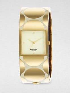 Kate Spade New York - Delacorte Goldtone and Enamel Bracelet Watch