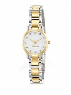 Kate Spade New York - Gramercy Mini Two-Tone Bracelet Watch
