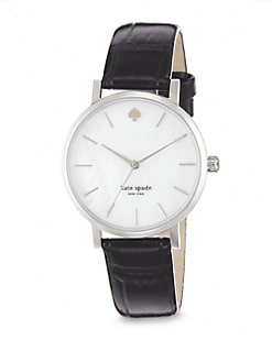 Kate Spade New York - Metro Stainless Steel Embossed Strap Watch