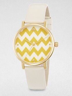 Kate Spade New York - Metro Zigzag Strap Watch