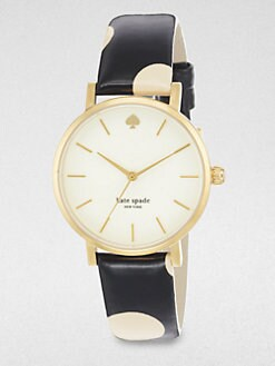 Kate Spade New York - Seaport Grand Goldtone Polka Dot Strap Watch