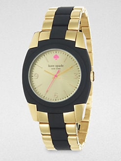 Kate Spade New York - Skyline Goldtone and Black Bracelet Watch