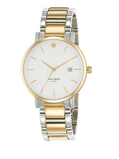 Kate Spade New York - Gramercy Two-Tone Bracelet Watch