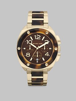 Michael Kors - Layton Tortoise-Look Bracelet Chronograph Watch