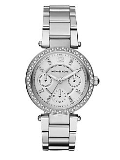 Michael Kors - Swarovski Crystal Accented Multi-Function Watch/Stainless Steel