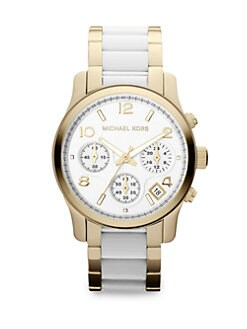 Michael Kors - Stainless Steel & Acetate Chronograph Watch