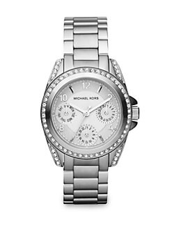 Michael Kors - Stone & Stainless Steel Multi-Function Watch