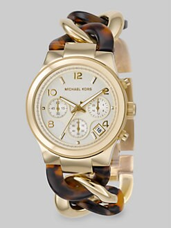 Michael Kors - Tortoise Link Chronograph Watch