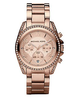 Michael Kors - Stainless Steel Chronograph Bracelet Watch/Rose Gold
