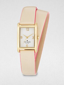 Kate Spade New York - Goldtone Double-Wrap Watch