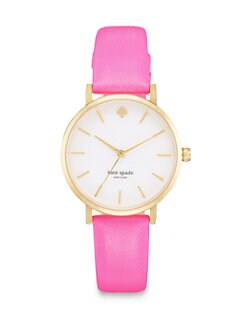 Kate Spade New York - Metro Goldtone Strap Watch/Pink