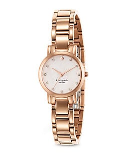 Kate Spade New York - Crystal & Rose Goldtone Watch