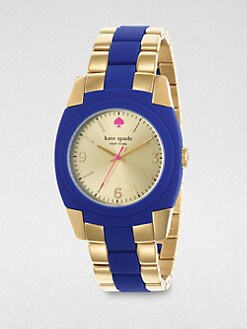 Kate Spade New York - Goldtone Stainless Steel & Silicone Watch
