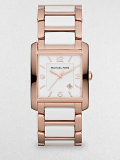 Michael Kors - Rose Goldtone Stainless Steel & Acetate Watch