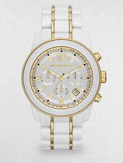 Michael Kors - Goldtone Stainless Steel & Acetate Chronograph Watch