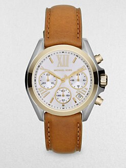 Michael Kors - Two-Tone Stainless Steel & Leather Chronograph Watch