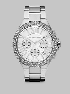 Michael Kors - Crystal Accented Stainless Steel Chronograph Watch/Silvertone