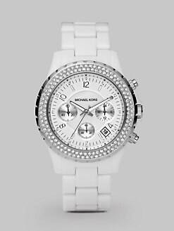 Michael Kors - Crystal Chronograph Watch/White