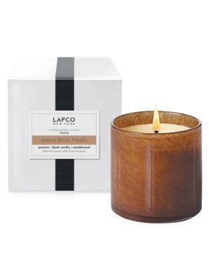 Amber Black Vanilla Foyer Candle